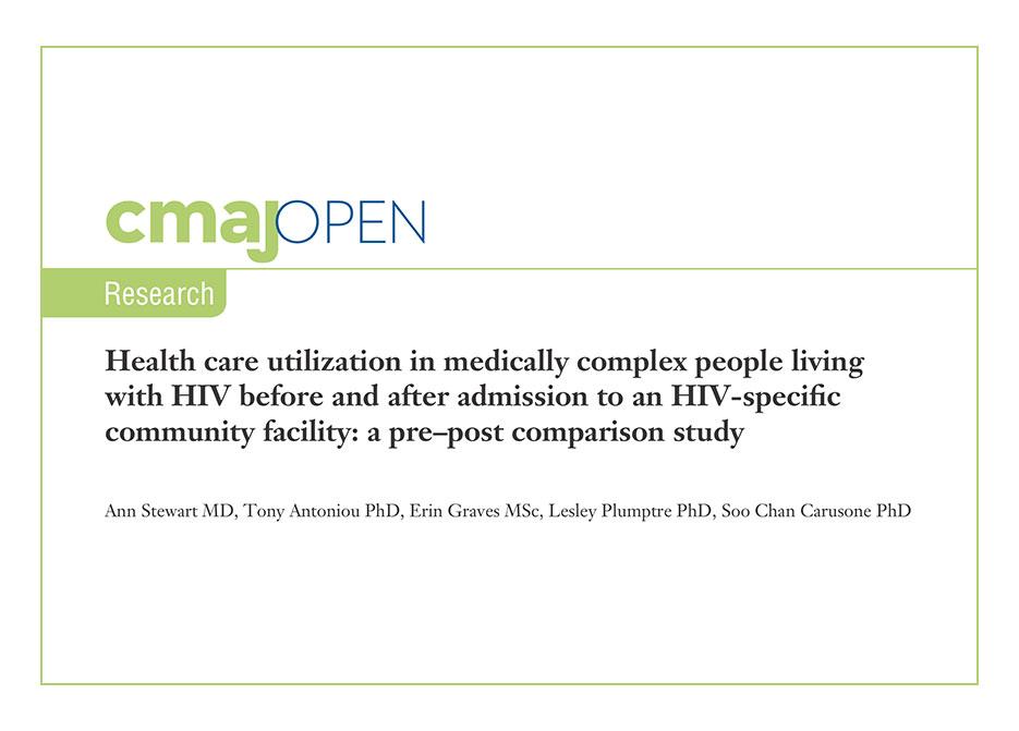 CMAJ Research Health Care Living with HIV Comorbidities