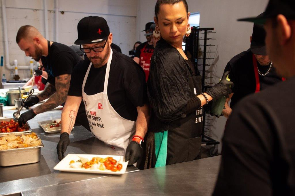 June's HIV+ Eatery Action in the Kitchen