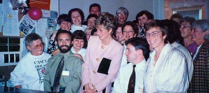 HRH Princess Diana Casey House Visit October 1991